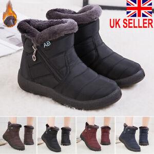 Womens Fur Lined Snow Waterproof Ankle