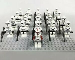 21Pcs-Minifigures-Star-Wars-Red-amp-Black-Clone-Trooper-501st-Army-Lego-Moc-Kids-Toy