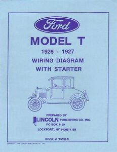 1926-27 FORD MODEL T WIRING DIAGRAM WITH STARTER | eBay