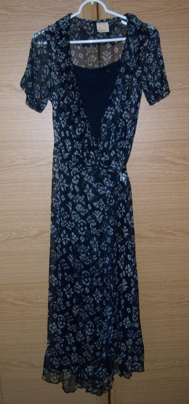 Chloe Cassandro Wickel Kleid zweiteilig Gr. S 100 % Seide Achselweite 42 cm