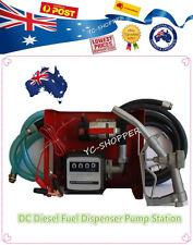 12 Volt 24 Volt Diesel Fuel Dispenser Transfer Pump -Flow Meter, Hose and Nozzle