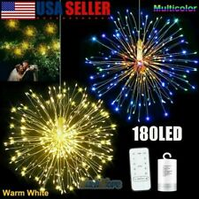 1//5//10pcs Firework LED Fairy String Light Remote Party Hanging Light Outdoor Dec