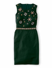 BODEN  BNIB Embellished Floral Dress - Dark Green - UK 12 R