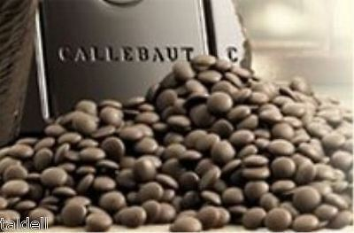 1KG BAG OF DARK BELGIAN COUVERTURE CHOCOLATE BUTTONS CALLEBAUT BB 13/1/2019