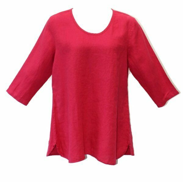 Flax Designs Soft Tunic NWT Linen  Ruby  choice of Größe   Medium Large 1X 2X 3X
