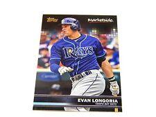 2016 Topps Wal-Mart Marketplace Baseball Card Evan Longoria Tampa Bay Rays