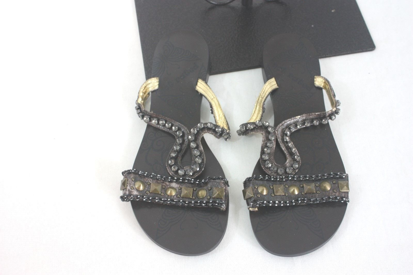 Sandals Flip Flops Jewelled 6.5 Not Rated  Size 6.5 Jewelled NEW 64c36b