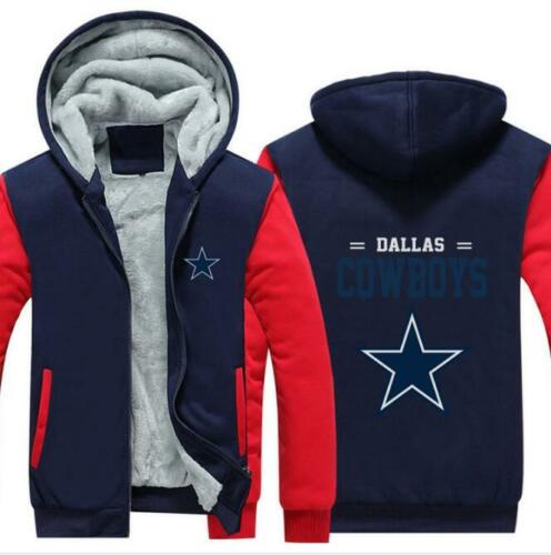 Thick Hoodie Dallas Cowboys Printed Long Sleeve Zipper Hat Hoode M-6XL 4 Style
