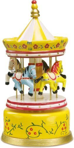 Spieluhr gelb, Karussell Pferde