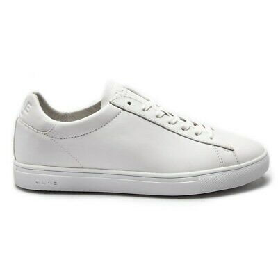 New Mens Clae White Bradley Leather