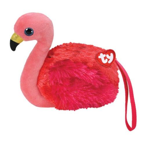Ty Gear Geldbörse Flamingo Gilda Plüsch für Kinder Pink Glubschi