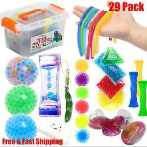 Sensory Fidget Toys 29 Pcs Stress Relief & Anti-Anxiety ...