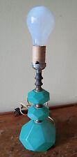 ART DECO GREEN OPAQUE GLASS LAMP
