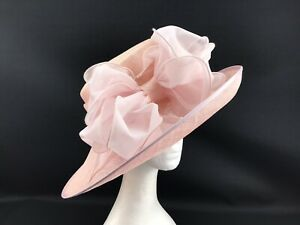 Nigel Rayment Baby Pink Wide Brimmed Hat  (10217)