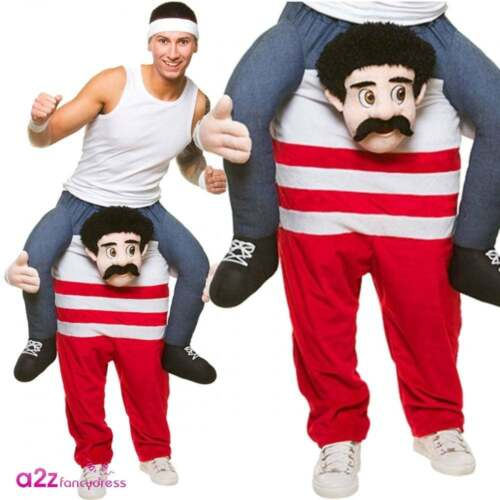 Carry Me Piggy Shoulder Back Ride On Adult Party Fancy Dress Costume Mens Outfit