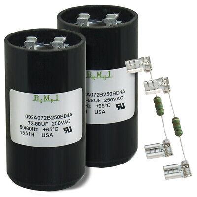 2 PACK 56-72 MFD uF Electric Motor Start Capacitor 220-250V HVAC 250 vac