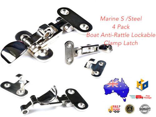 4 Pack Boat Anti-Rattle Lockable Clamp Latch Marine S //Steel HD 0230 //4