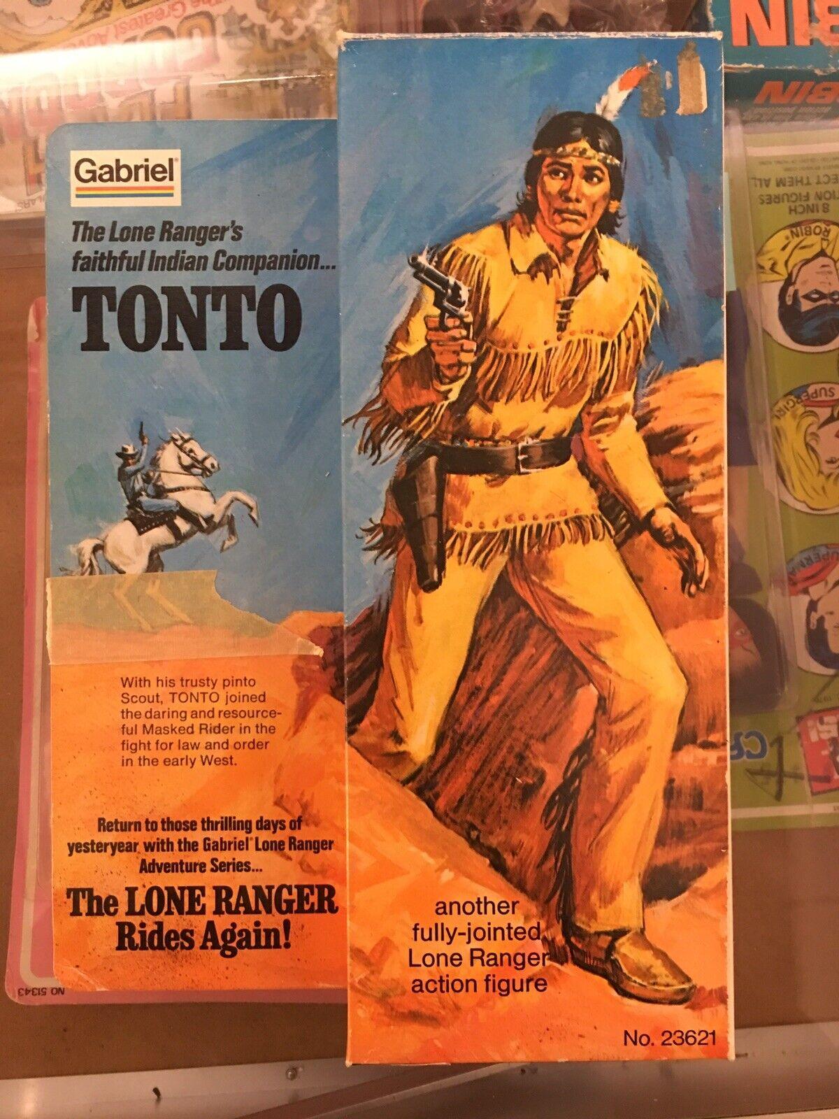 1973 Gabriel Lone Ranger's TONTO 10  figure with box- Gabriel Hubley