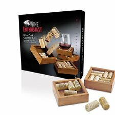Wine Enthusiast Wine Cork Coasters Kit, Set of 4 [Kitchen]