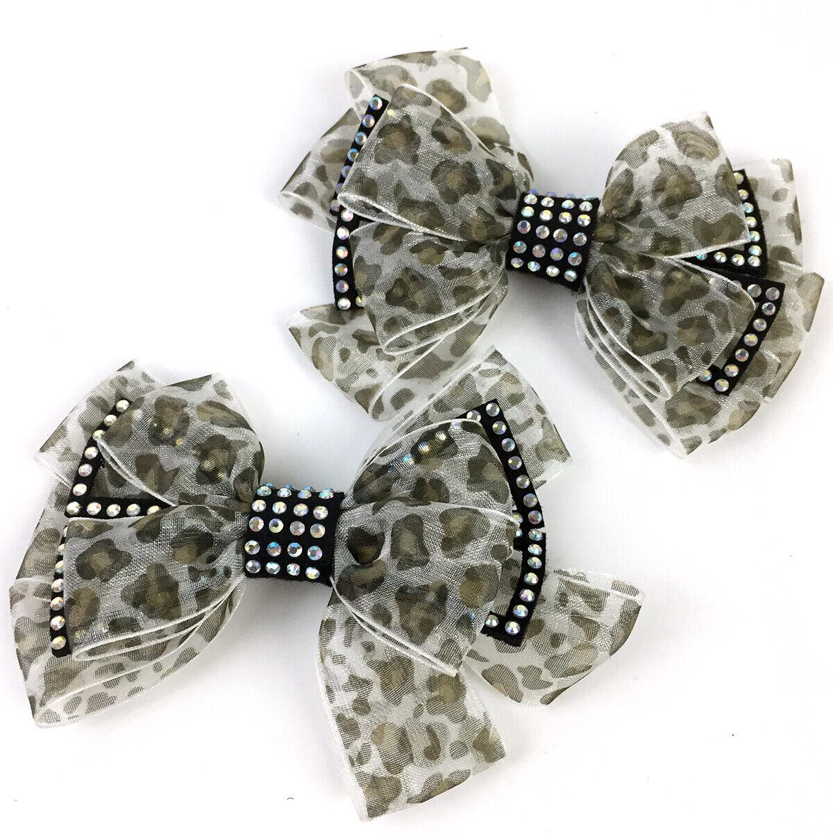 1 Pair Leopard Shoe Charms Shoes Decoration Bowknot High Heels Accessoires Bow