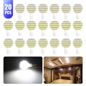 20x-Super-Bright-DC12V-T10-921-168-6000k-White-RV-Interior-24SMD-LED-Light-Bulb