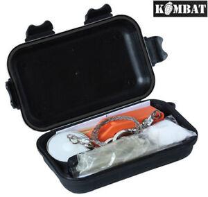 Kombat Army Military Combat Survival Bush Kit Emergency Waterproof Plastic Case