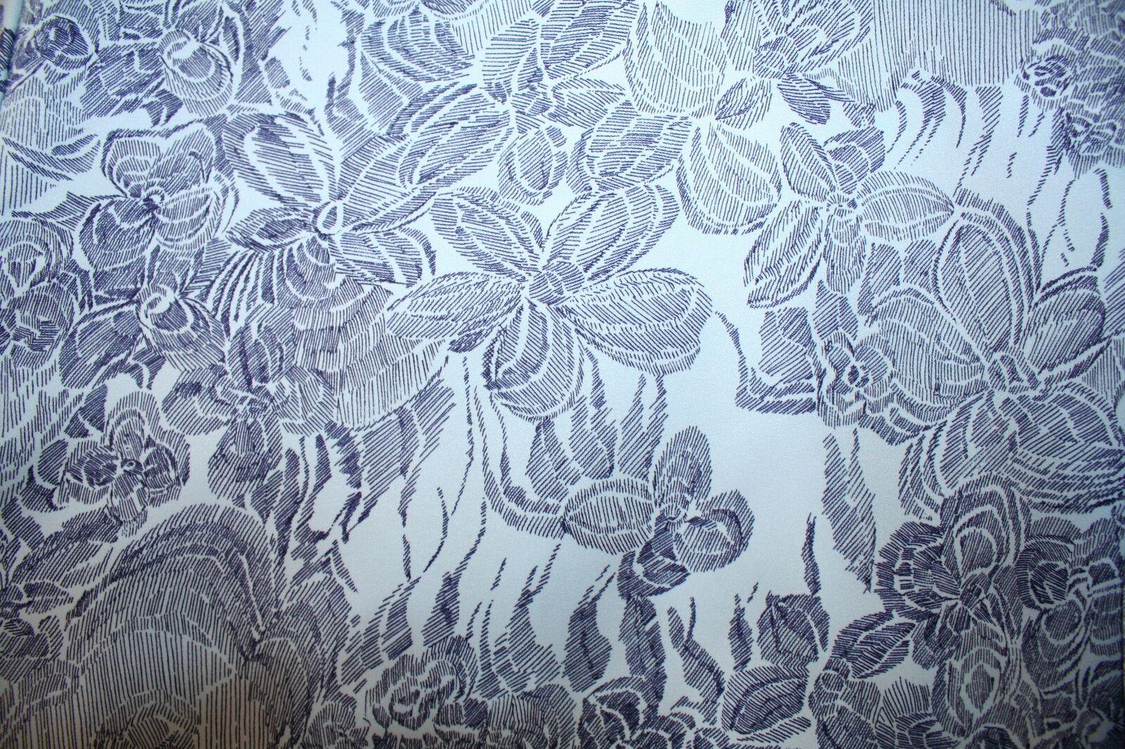 Vintage Mens Long Sleeve Dress Shirt Medium Belair bluee Flowers Bel Air Used