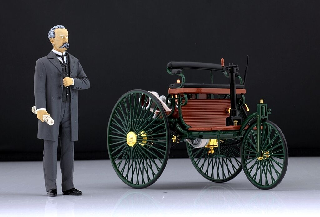 Karl Benz Figura per 1 18 CMC Mercedes Patent Motorwagen VERY RARE