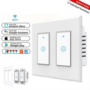 Details about Smart Wifi Light Switch 2-Gang Works with Amazon Alexa Google  Home IFTTT