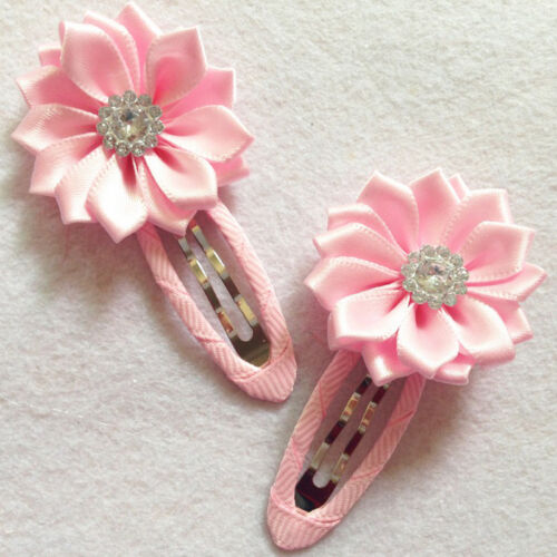 Beautiful Baby Girl Flower Hair Clips Toddler Hairpins Accessories Pip J/&C