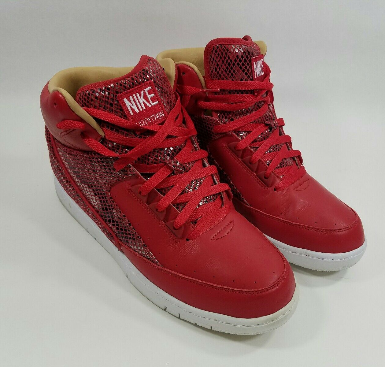 quality design 92c65 39ee7 france nike air python retrò sp lux rossa in pelle rossa lux bianca 632631  601 serpente