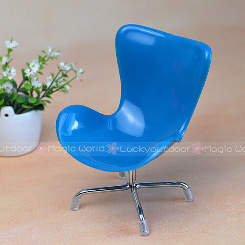 Toys & Hobbies Mini Egg Chair Armchair Backrest Swivel Toy For Dolls Barbie Blythe Dollhouse Miniatures 1:6 Purple And To Have A Long Life.