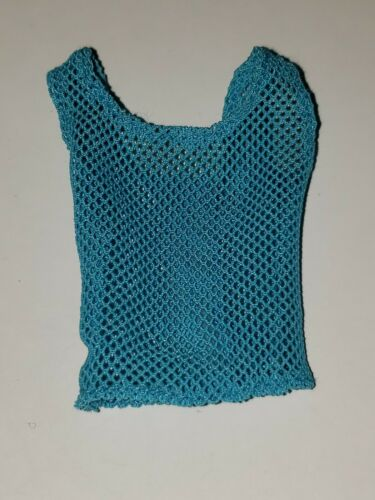 TURQUOISE MESH SEE THROUGH TANK TOP FOR  Barbie doll