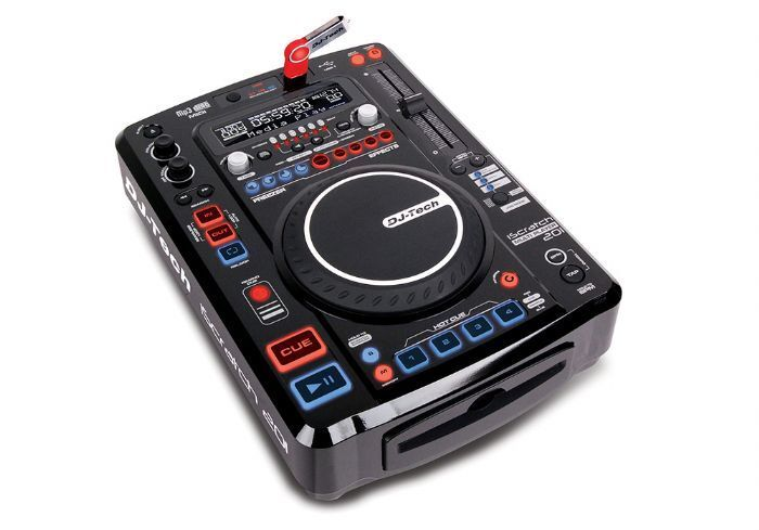 Dj Tech ISCRATCH201 The Iscratch 201 Supports The Most Popular Media  Cds & Usb