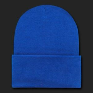 Royal Blue Plain Knit Beanie Hat Cap Skull Snowboard Winter Hats ... ceafc7f7df7