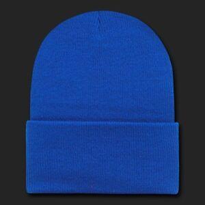 63844064 Details about Royal Blue Plain Knit Beanie Hat Cap Skull Snowboard Winter  Hats Cuff Beanies
