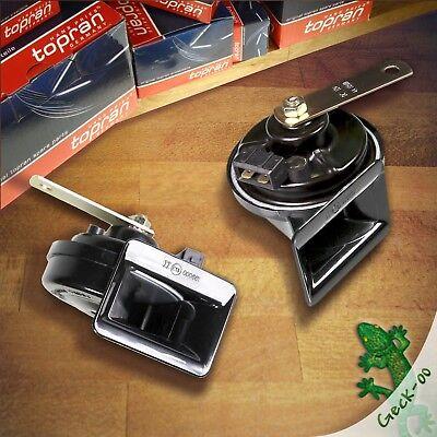 2x HORN HUPE FANFARE SIGNALHORN HOCHTON+TIEFTON VW NEW BEETLE 9C