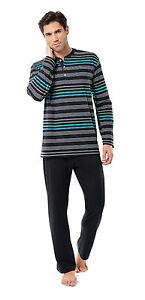 Sleepwear & Robes 100% Quality Götzburg Herren Schlafanzug Pyjama Blau 451194-799 H Latest Fashion