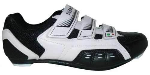 Fahrradschuhe Straßenradschuhe Rennradschuhe schwarz-weiß RRS-WS Größe 38-46 Neu