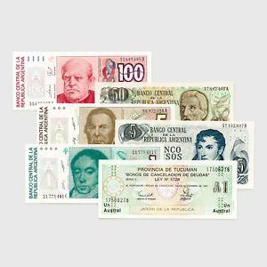 Set-of-6-diff-Argentina-1970-039-s-80-039-s-Au-Unc