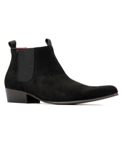 Retro Classic New Chelsea Boots Mens Mod Suede Chelsea anni Nero Lightfoot '60 ppXwR