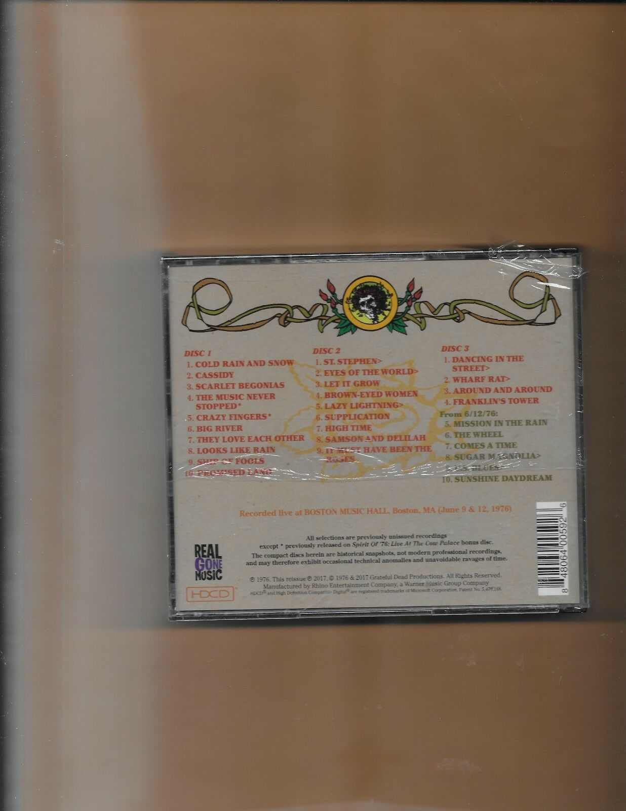 Grateful Dead Road Trips 4 No  2 - April Fools 88 CD