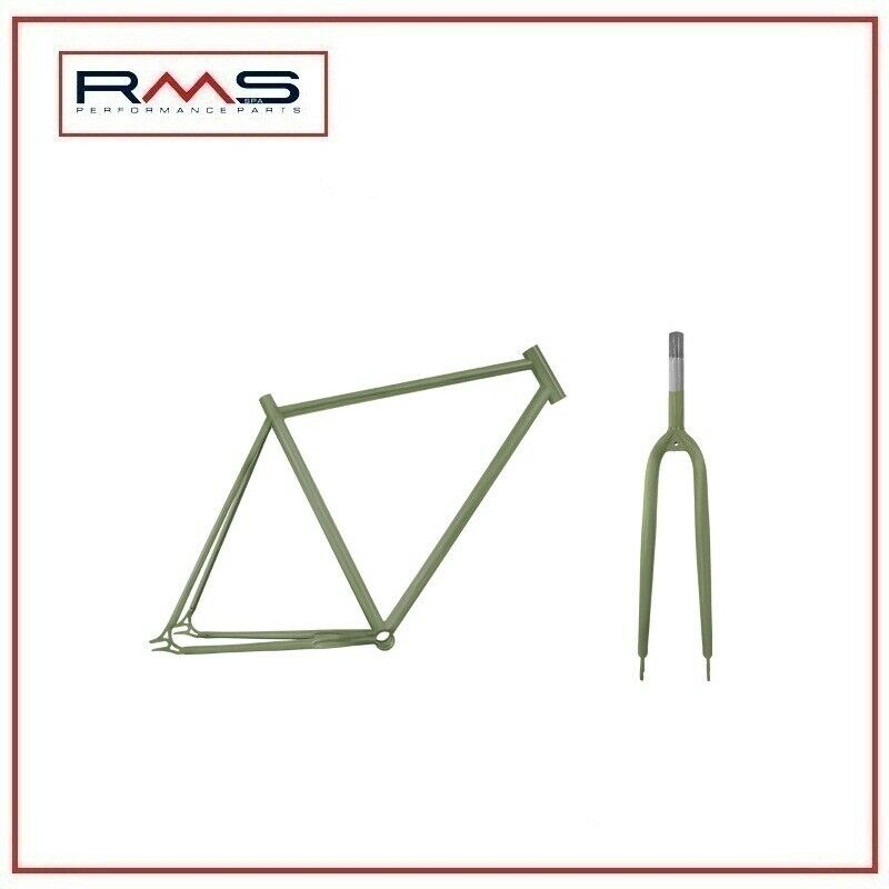 Set Bike Frame + Fork Fixed 700cx54 vert Jeep