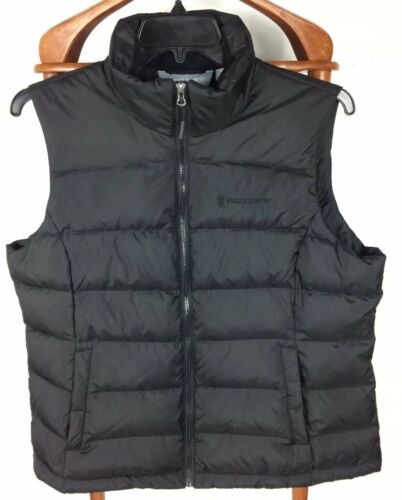 Free Country Mens Black Puffer Full Zip Up Down &