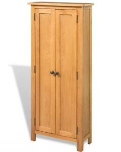 Exceptionnel Image Is Loading Tall Oak Cabinet Wooden Slim Furniture Rustic Wood
