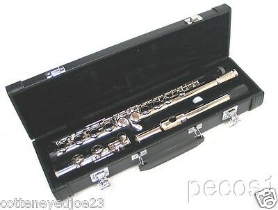 NEW 2015 SILVER INTERMEDIATE CONCERT BAND FLUTE WITH YAMAHA PADS