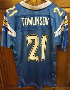 Reebok San Diego Chargers Ladainian Tomlinson   21 NFL Blue Jersey ... 681014723