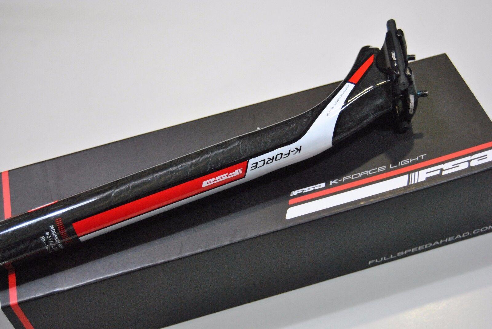 TIGE DE DE DE SELLE FSA Mod. K-FORCE LUMIÈRE SB 25mm L400mm Carbone UD/tige 8039c2