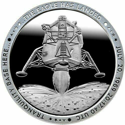 Apollo 11 Eagle Landing 1 oz Silver round .999-2nd in New Series Proof Like