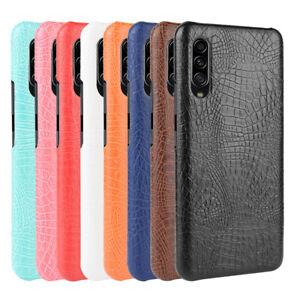 For-Samsung-Galaxy-A90-5G-Case-Crocodile-Skin-Pattern-Leather-Slim-Hard-Cover